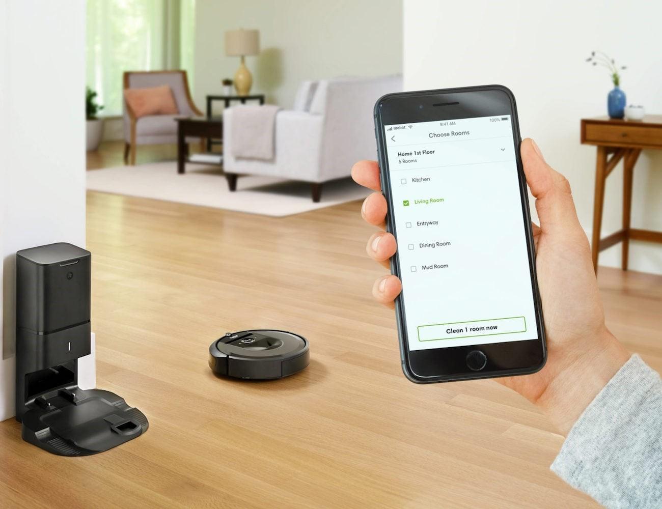 Roomba-self emptying vacuum cleaner